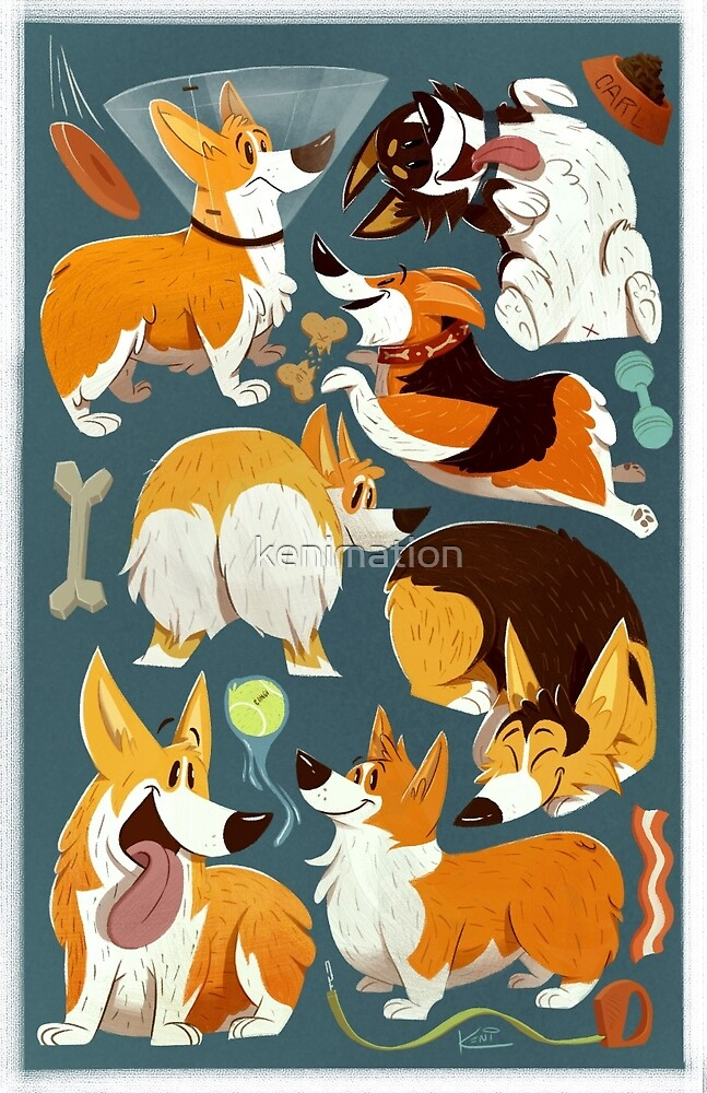 Corgi Collage! by kenimation