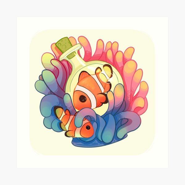 C is for Clownfish Art Print