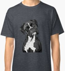 Black and White Boxer Art Classic T-Shirt