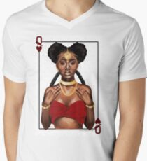 Queen of Hearts  V-Neck T-Shirt