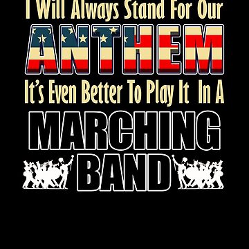 Marching Band Patriotic American Flag National Anthem Musician Band Member Gifts by vince58