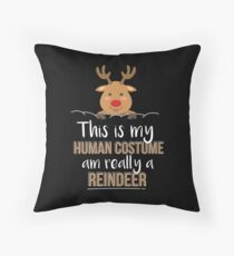 This Is My Human Costume Am Really A Reindeer - Perfect Gift Reindeer Christmas Floor Pillow
