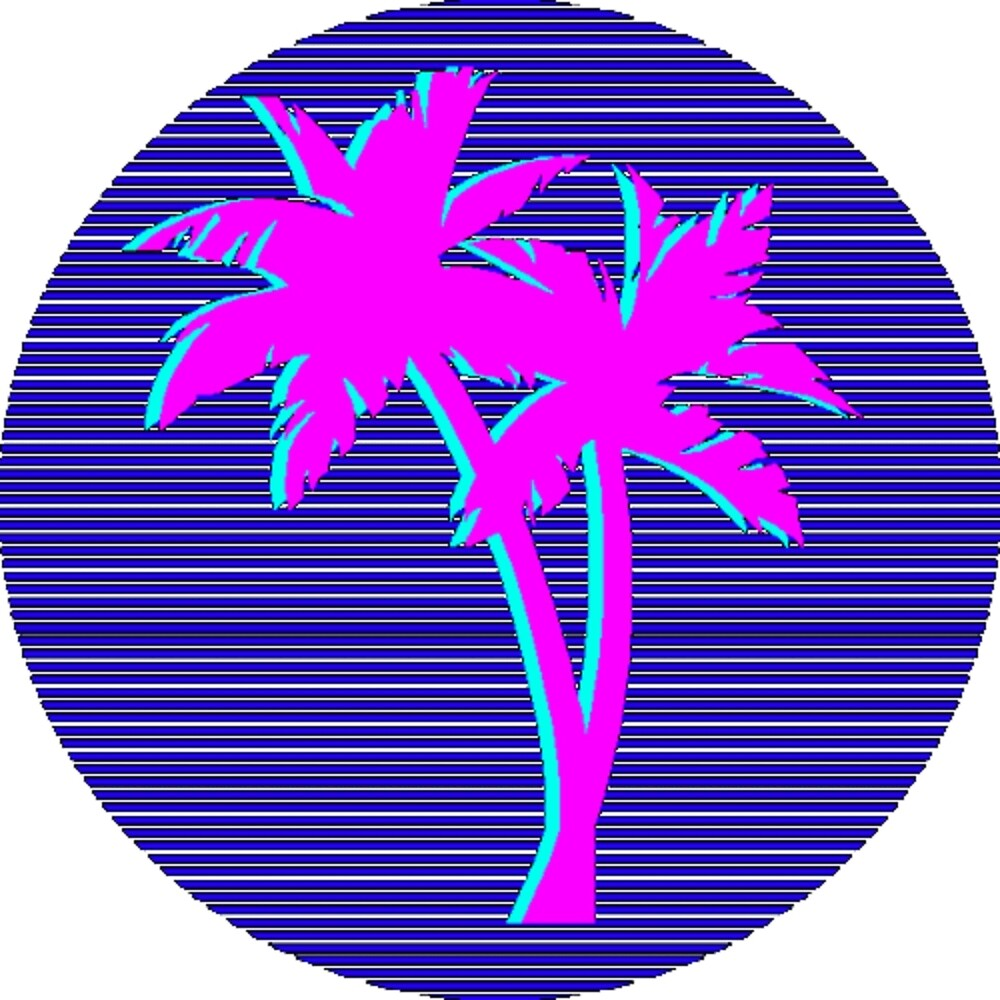 palm trees vaporwave by PattyFull