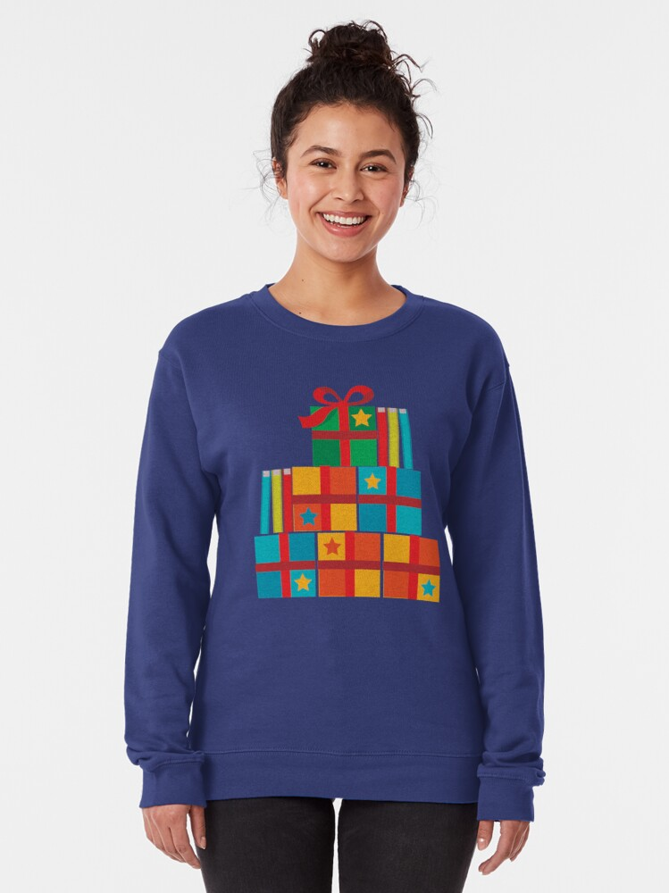 Alternate view of books and New Year's packages Pullover Sweatshirt