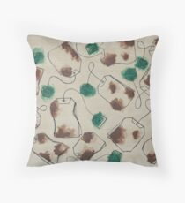 Cold Winters, Hot Tea Throw Pillow