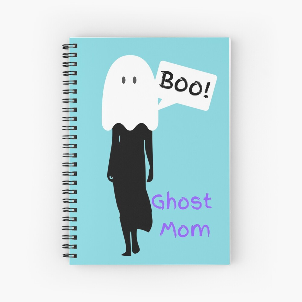 Ghost Mom Logo - Mummy to Twins Plus One Spiral Notebook