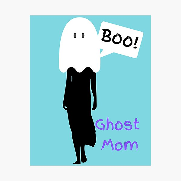 Ghost Mom Logo - Mummy to Twins Plus One Photographic Print