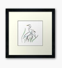 Egrets in the Swamp Framed Print