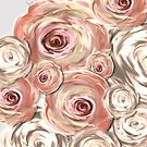 Beige and pink flowers by mjvision Mia Niemi by mjvisiondesign