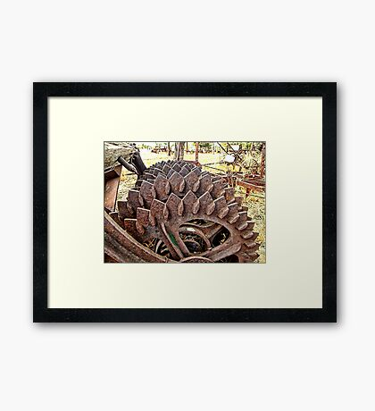 Torture machinery, for the earth that is. Framed Print