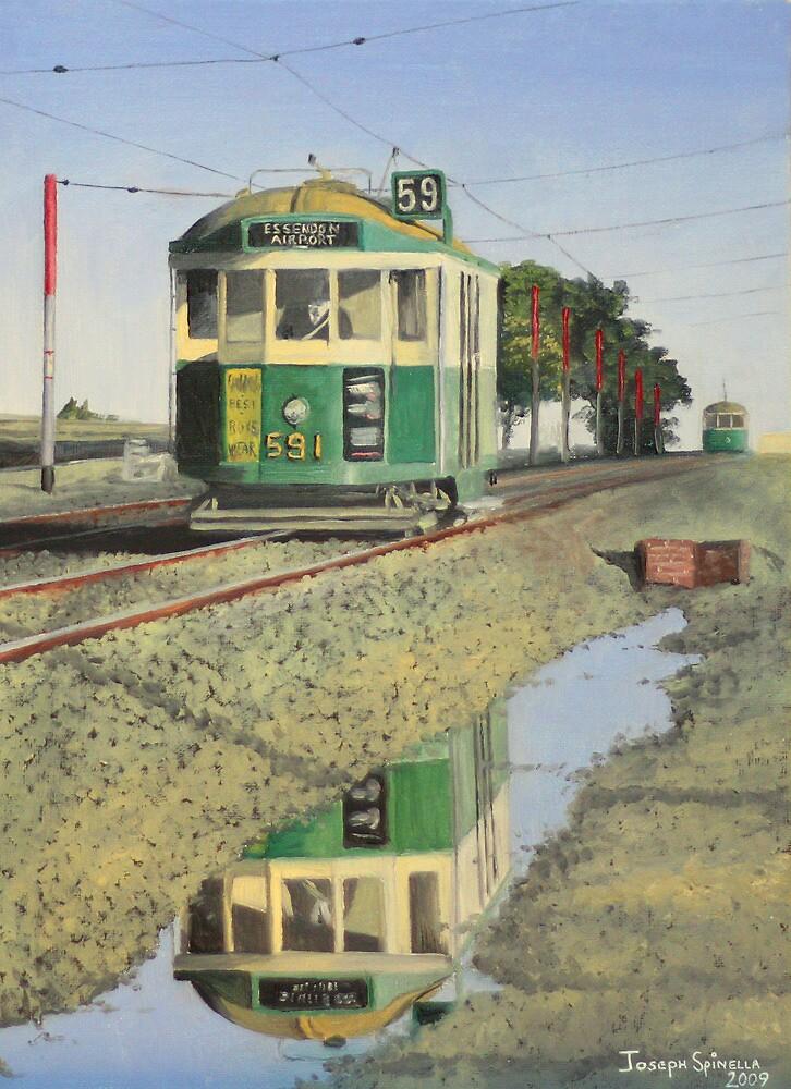 W2 Tram to Essendon by Joseph Spinella