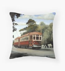 Glenelg Tram Throw Pillow