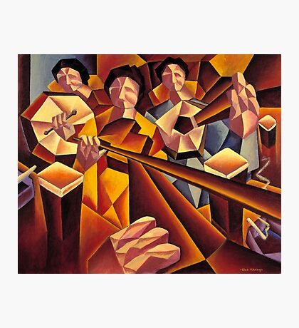 Trad session 2 interior with structured musicians Photographic Print
