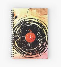 Enchanting Vinyl Records Grunge Art  Spiral Notebook