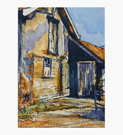 Rural farm, Tuscany. Watercolour. Framed. 32x23cm Photographic Print