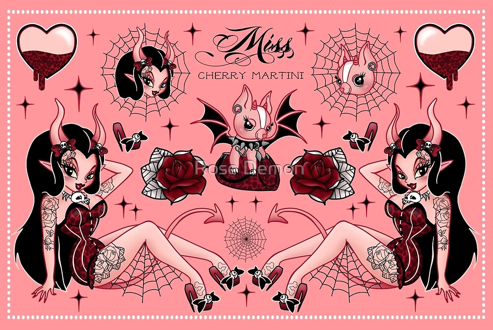 Devil Girls Flash (Peach Version)  by Miss Cherry  Martini