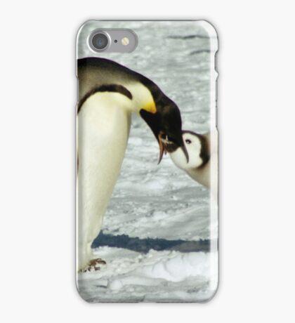 Emperor Penguin Feeding Chick, Antarctica  iPhone Case/Skin