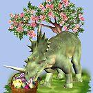 Easter Dinosaur by LoneAngel