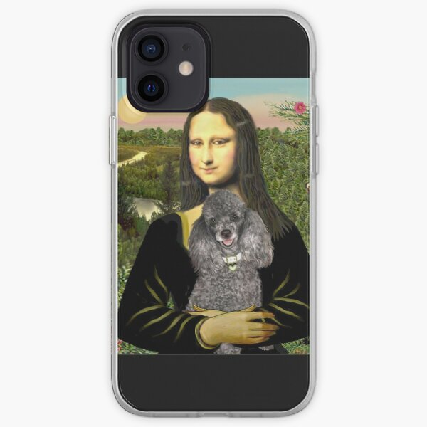 Mona Lisa and her Silver Poodle (Toy or Miniature) iPhone Soft Case