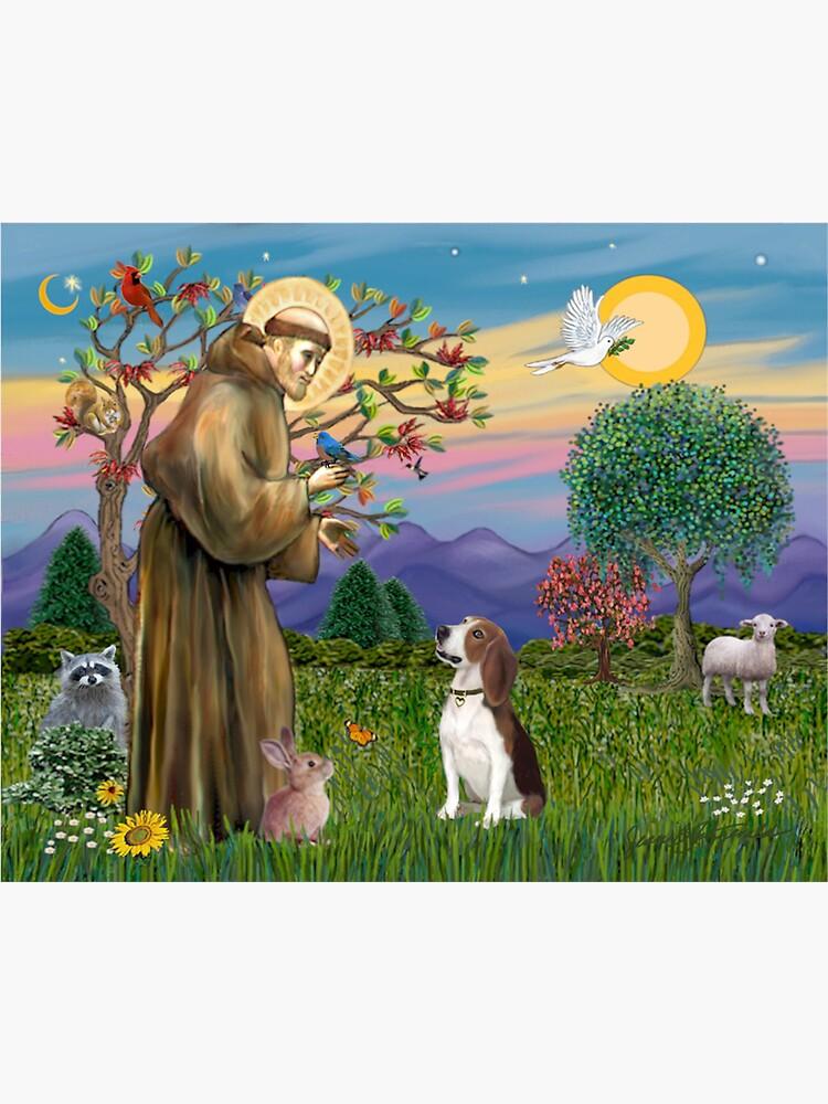 St Francis Blesses a Beagle by JeanBFitzgerald