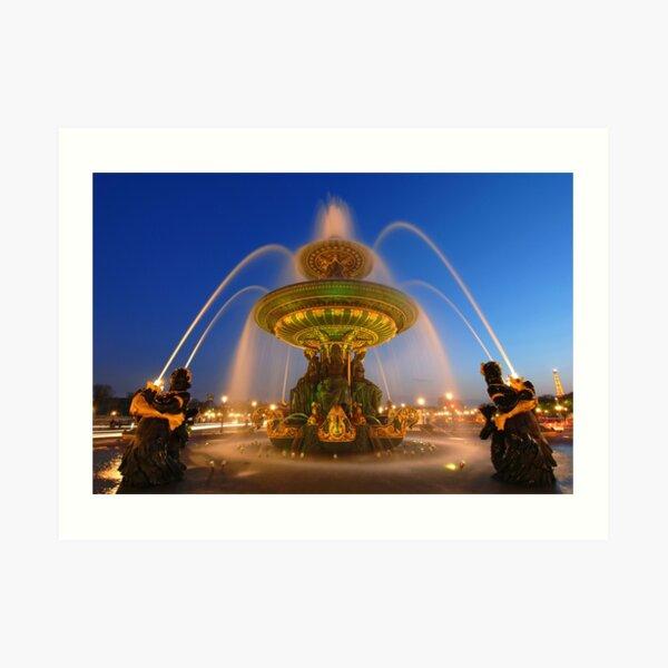 Fontaine des Fleuves la nuit Impression artistique