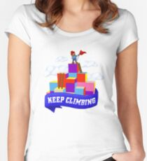 Keep Climbing Fitted Scoop T-Shirt