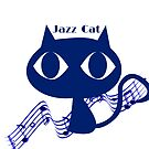 Musician : BLUE JAZZ CAT Cool Logo t shirt Original Graphic Retro Design by VIDDAtees