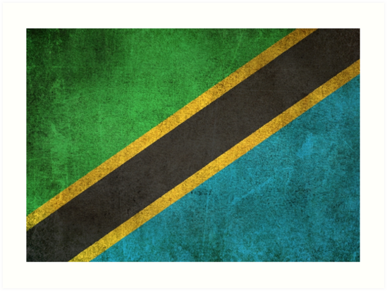 Old and Worn Distressed Vintage Flag of Tanzania by jeff bartels