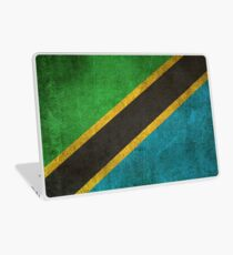Old and Worn Distressed Vintage Flag of Tanzania Laptop Skin