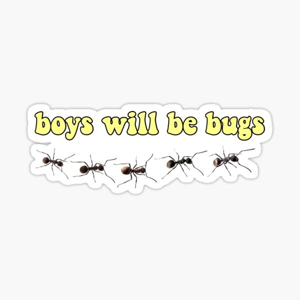 Boys will be bugs with ants yellow Sticker