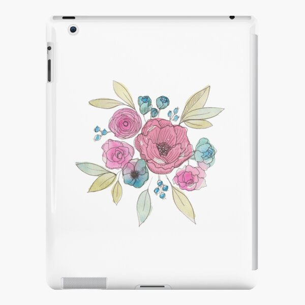 Pink and Blue Flowers iPad Snap Case