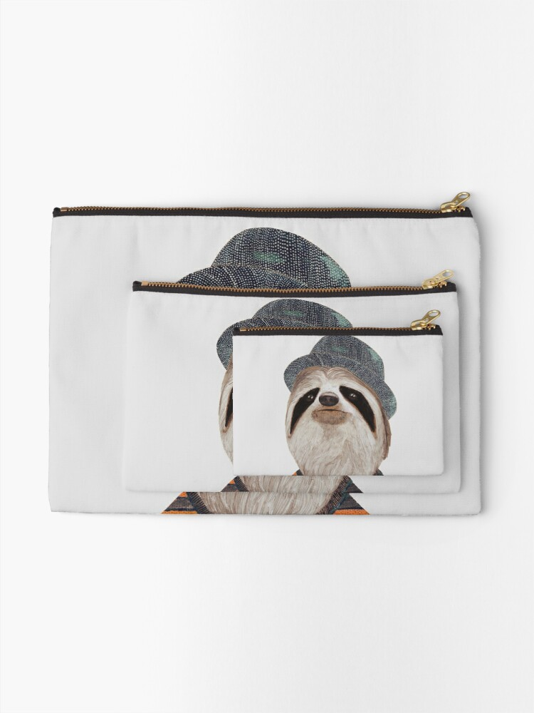Alternate view of Sloth Zipper Pouch