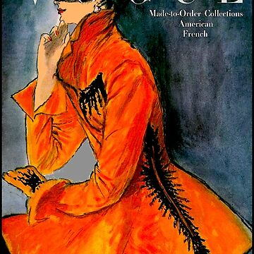 VOGUE : Vintage 1917 Magazine Cover Print by posterbobs
