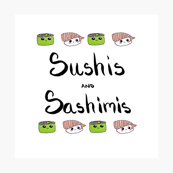 Sushis and Sashimis Photographic Print