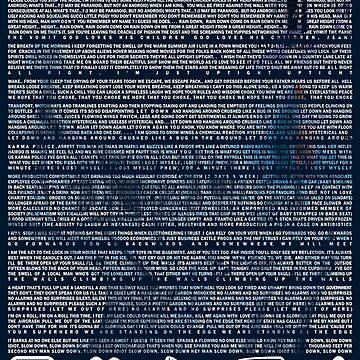 Letras de canciones de OK Computer de TM490