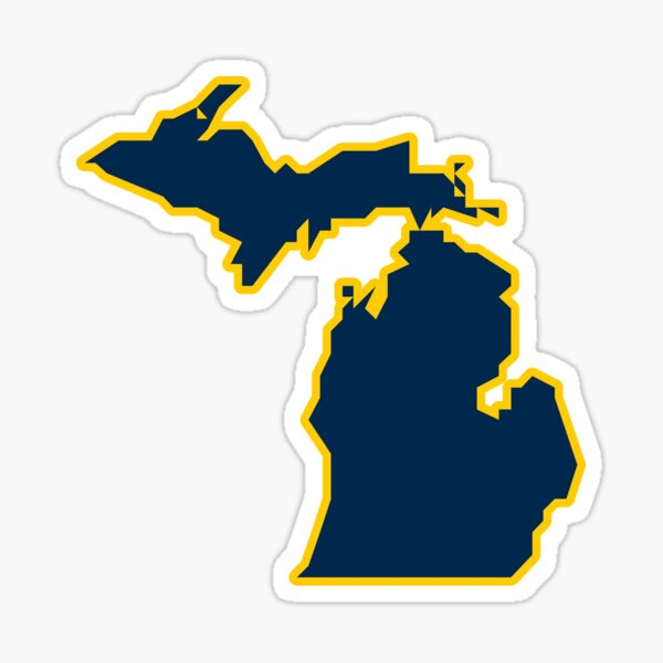 State of Michigan - Maize and Blue Sticker
