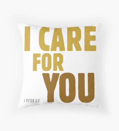 I care for you - I Peter 5:7 Floor Pillow