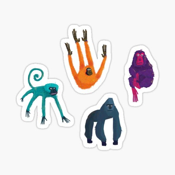Monkey Illustrations Sticker Set Sticker