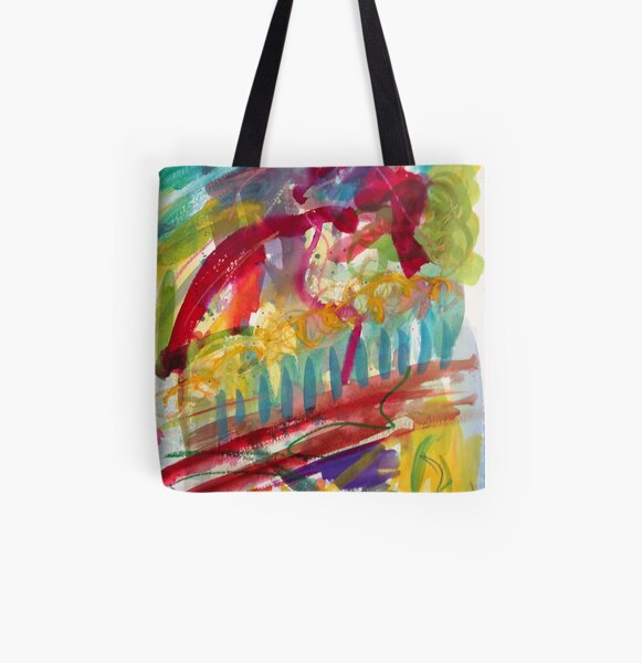 Sitting on the pier All Over Print Tote Bag