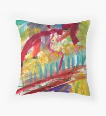 Sitting on the pier Throw Pillow