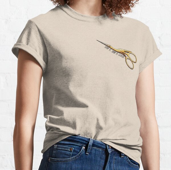 Stork Embroidery Scissors - Snip It Real Good Classic T-Shirt