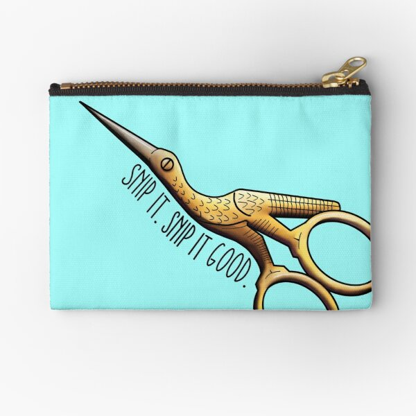 Stork Embroidery Scissors - Snip It Real Good Zipper Pouch