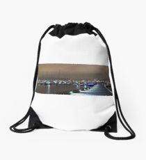 St Kilda Pier Panorama Drawstring Bag