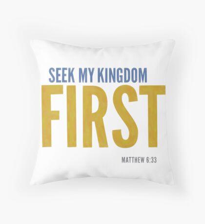 Seek My Kingdom First Matthew 6:33 Floor Pillow