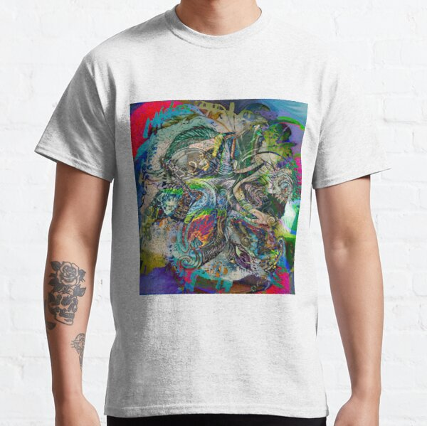 mottled multicolored abstract composition Classic T-Shirt