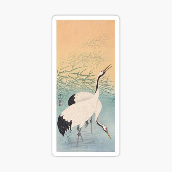 Crane by Ohara Koson Sticker