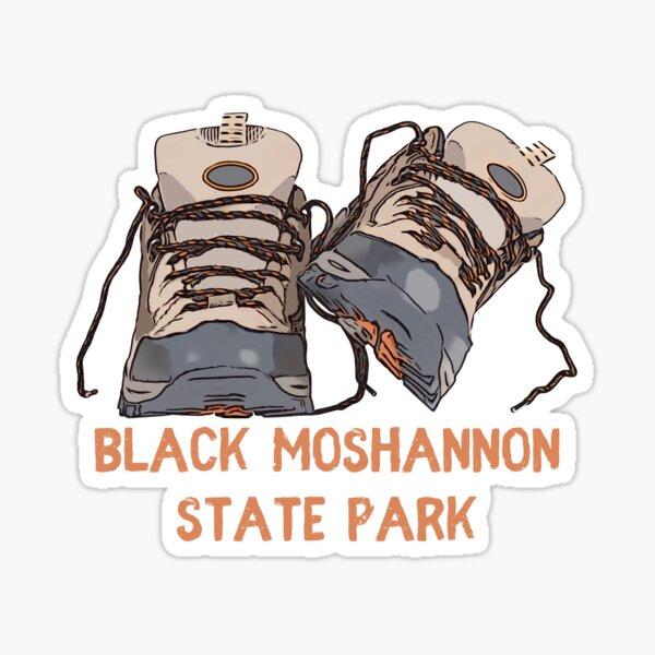 Black Moshannon State Park Hiking Boots Sticker