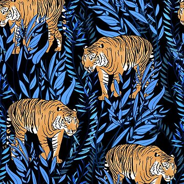 Tiger und Blattmuster von burcukyurek
