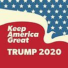 Keep America Great - Trump 2020 American Eagle Flying by CentipedeNation
