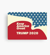 Keep America Great - Trump 2020 American Eagle Flying Canvas Print